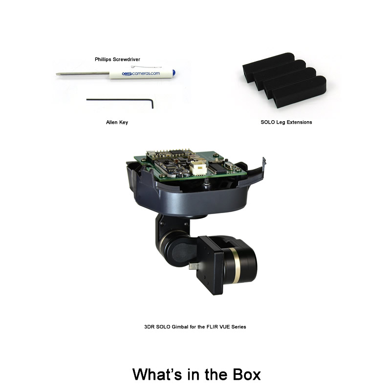 3DR Solo Gimbal - What's in the Box