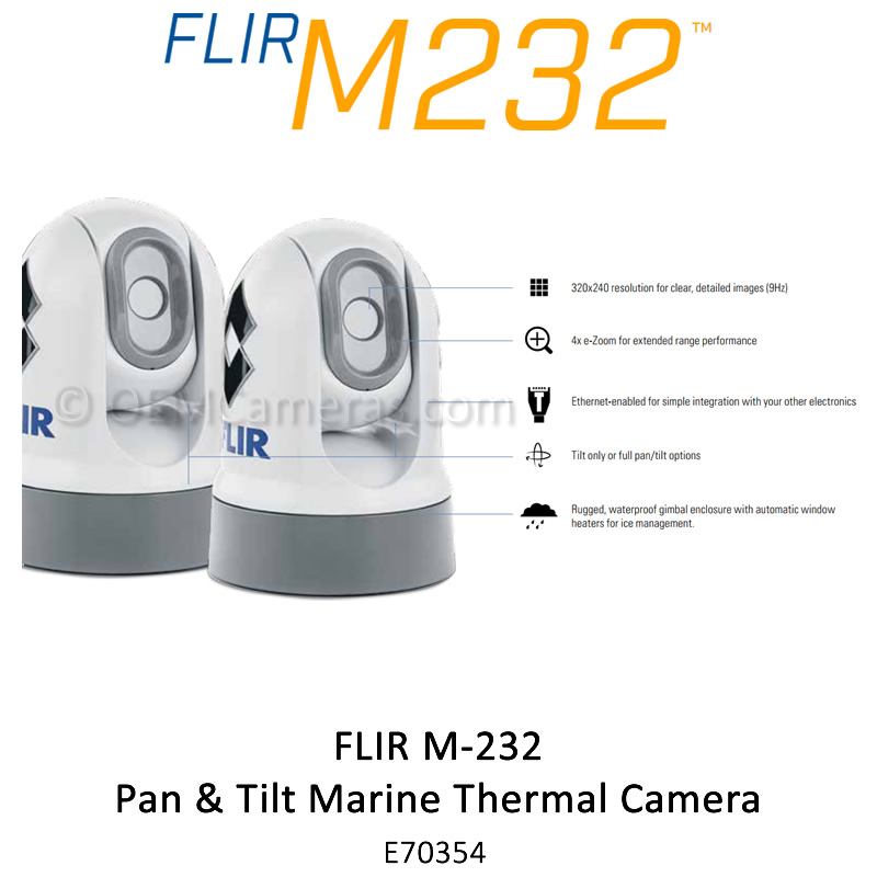 Flir M232 Adjustable Tilt Marine Thermal Camera