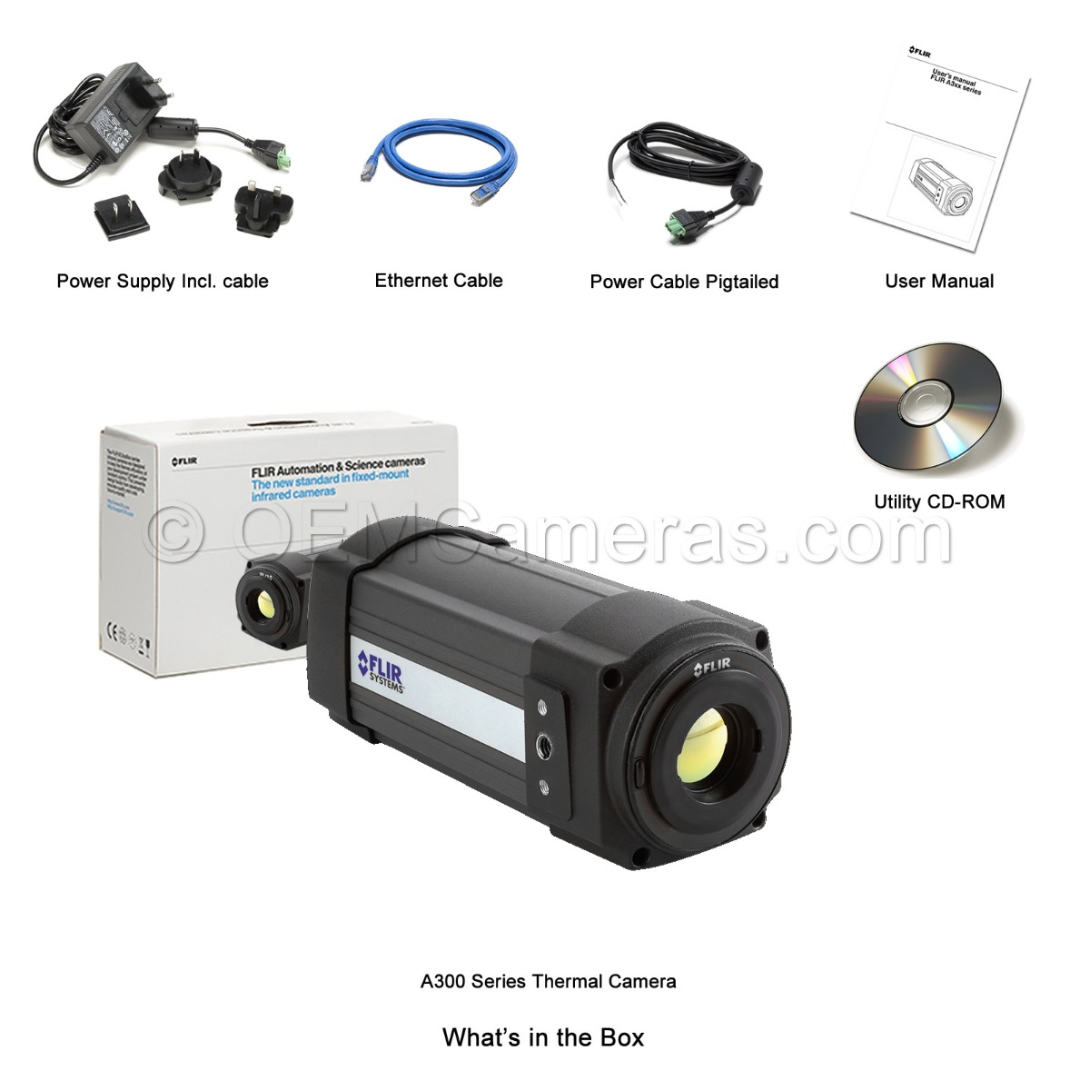 FLIR A300 Series Thermal Camera What's in the Box